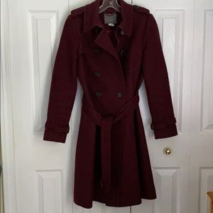 Icon J Crew Trench Coat in Wool & Cashmere